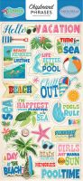 Carta Bella Summer Splash 6x13 Chipboard Phrases