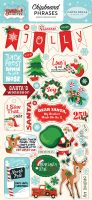 Carta Bella Santa's Workshop 6x12 Chipboard Phrases