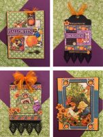 Graphic 45 G45 / Children's Hour Card/Tag October Kit