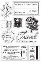 Basic Grey Bon Voyage Clear Stamp - South Pacific Collection