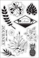 Basic Grey Enjoy The Journey Clear Stamp - South Pacific Collection