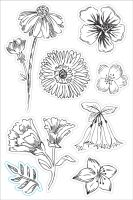 Basic Grey Tea Flowers Clear Stamp - Tea Garden Collection