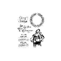 Tim Holtz Stampers Anonymous Old Fashioned Christmas Cling Rubber Stamp Set