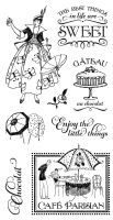 Graphic 45 Cling Stamp Set Cafe Parisian 1