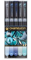 Chameleon Color Tones 5 Pen Blue Tones Set