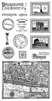 Graphic 45 Cityscapes Cling Stamps Set 2