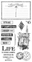 Graphic 45 Cityscapes Cling Stamps Set 3