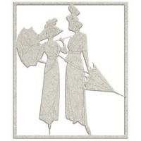 FabScraps The Love Of Tea Die-Cut Chipboard Shape Ladies W/Parasols 4