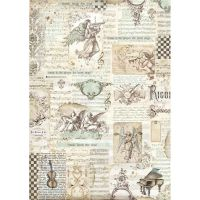 Stamperia A3 Decoupage Rice Paper packed Angels and music