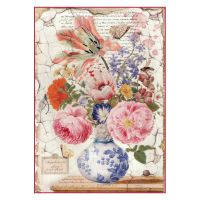 Stamperia A4 Decoupage Rice Paper Packed Vintage Vase