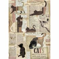 Stamperia A4 Decoupage Rice Paper packed Cats
