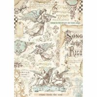 Stamperia A4 Decoupage Rice Paper packed Angels and music