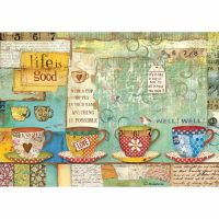 Stamperia A4 Decoupage Rice Paper packed Patchwork cups