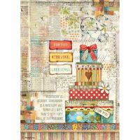 Stamperia A4 Decoupage Rice Paper packed Patchwork gift