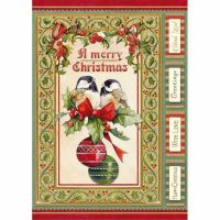 Stamperia A4 Decoupage Rice Paper packed Christmas vintage birds and shperes