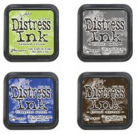 Color of the Month Distress Ink Pad Bundle #2 - May, June, July, August - Tim Holtz Distress Ink  Color Of The Month Ink Pad Set 2