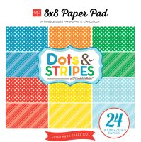 Echo Park Summer Dots & Stripes Summer 8X8 Paper Pad