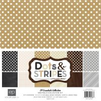 Echo Park Neutrals Dots & Stripes Neutrals 12x12 Collection Kit