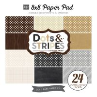Echo Park Neutrals Dots & Stripes Neutrals 8X8 Paper Pad