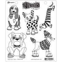 Ranger Dyan Reaveley's Dylusions Stamp Collection - Puppy Dog Tales