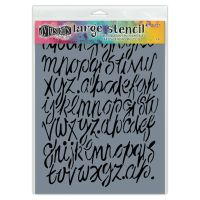 Ranger Dylusions Stencils - Modern Script - Large