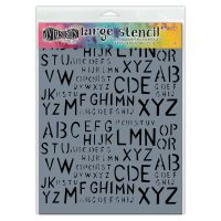 Ranger Dylusions Stencils - Old School Alpha - Large