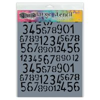 Ranger Dylusions Stencils - Old School Number - Large