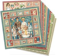 Graphic 45 Penny's Paper Doll Family 12x12 Paper Pack (16 sheets)