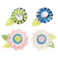 Darice Felties Fairy Tales Felt Prince Flowers - Blue and Green - 4 pieces