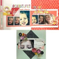 FotoBella Designer Layout Kit Featuring Pink Paislee Take Me Away