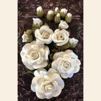 Graphic 45 Rose Bouquet Collection - Ivory Flowers