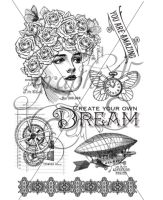 Graphic 45 Dream - Imagine Clear Acrylic Stamps