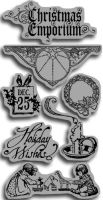 Graphic 45 Christmas Emporium Cling Stamps 1