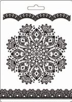 Stamperia Soft Mould A5 size Doily pattern