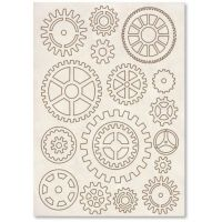 Stamperia Carved Wooden shapes f. To A5 Gears