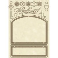 Stamperia Wooden frame A5 size Door decoration
