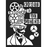Stamperia Stencil cm. 15x20 - Capture the moments