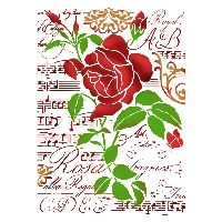 Stamperia Stencil G cm. 21x29,7 Rose and Music