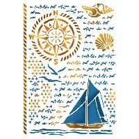 Stamperia Stencil G cm. 21x29,7 Sea Land