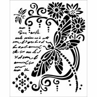Stamperia Thick stencil 20x25 cm Dragonfly