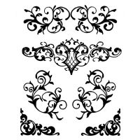 Stamperia Thick stencil 20x25 cm Decorations