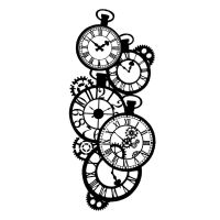 Stamperia Thick stencil 12x25 cm Clocks