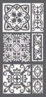 Stamperia Thick stencil 12x25 cm - Tiles