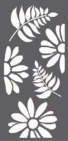 Stamperia Thick stencil 12x25 cm - Flowers and leaves