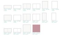 Lifestyle Crafts Letterpress Paper - Square Flat, 25 sheets - White