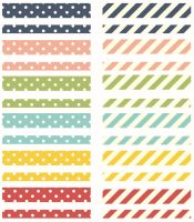 Simple Stories Life Documented - Basic Washi Paper Tape