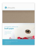 Silhouette America Printable kraft sticker paper