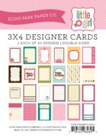Echo Park 3x4 Little Girl Cards