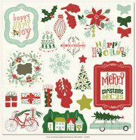 My Minds Eye Cozy Christmas Chipboard Elements