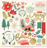 My Minds Eye Christmas on Market Street Chipboard Elements